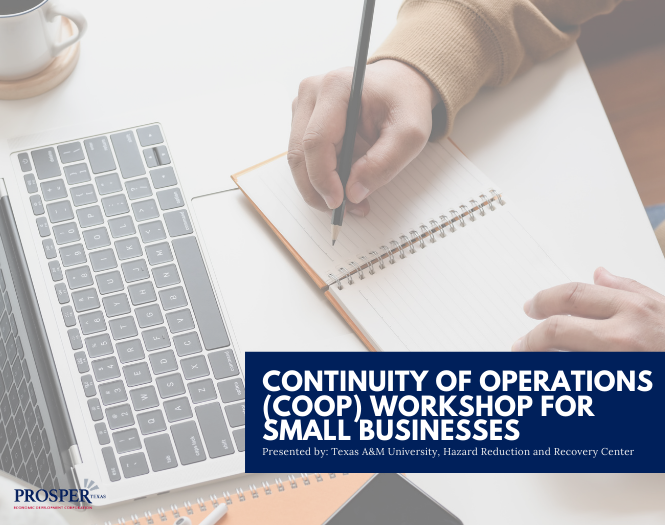Article image for Continuity of Operations (COOP) Workshop for Small Businesses page