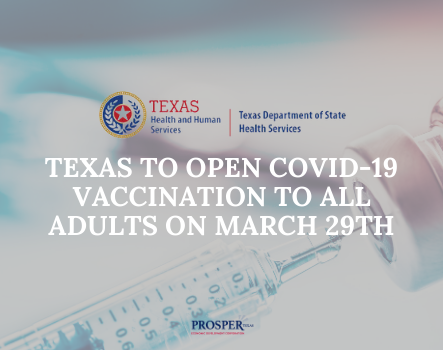Article image for Texas to open COVID-19 vaccination to all adults on March 29th page