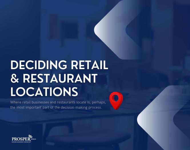 Deciding Retail and Restaurant Locations - June 04, 2021